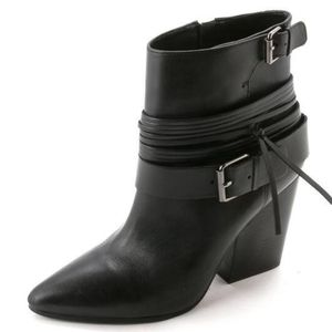 Leather Ankle Boots with Buckles - Vince Camuto